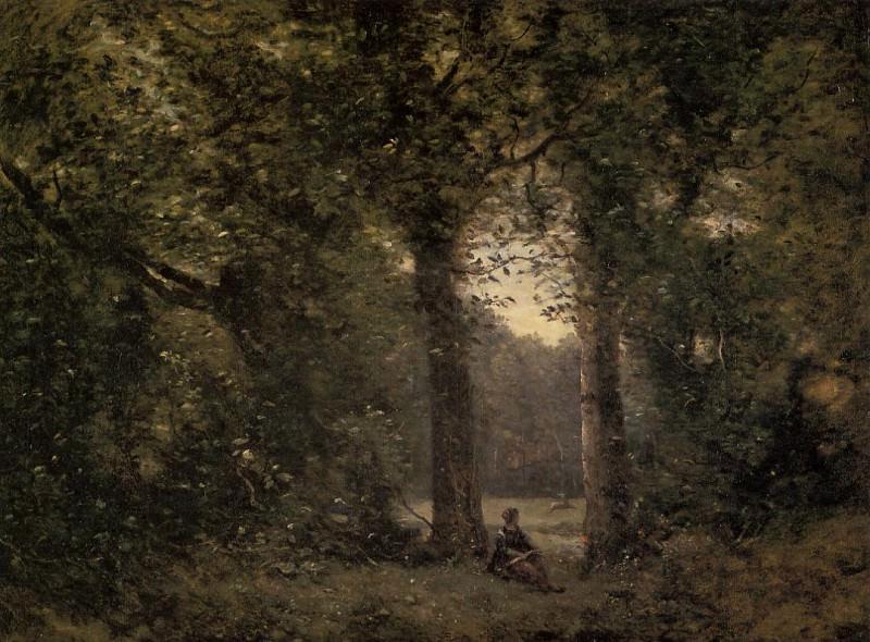 Souvenir of Ville d-Avray. Jean-Baptiste-Camille Corot