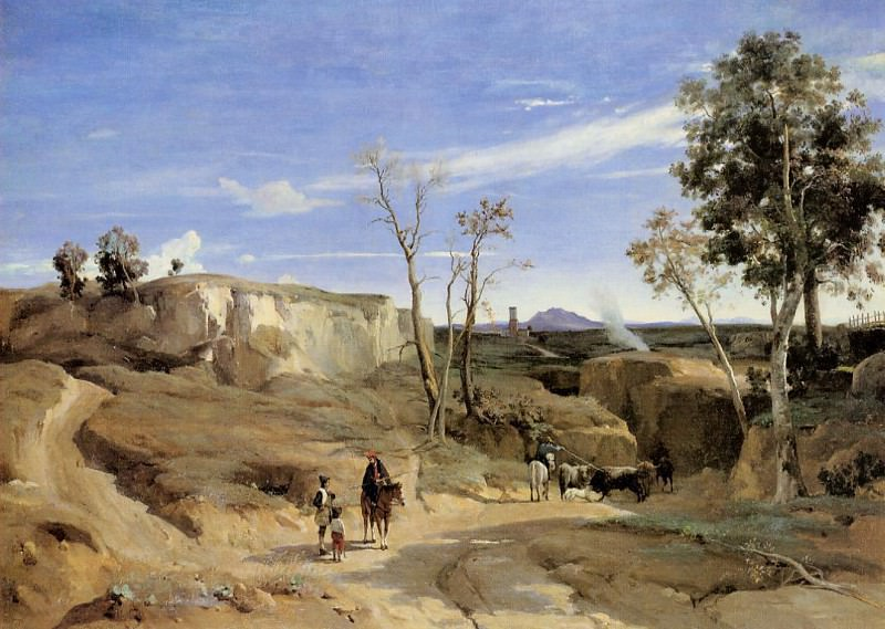 La Cervara the Roman Countryside. Jean-Baptiste-Camille Corot