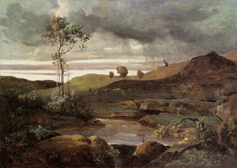 The Roman Campagna in Winter. Jean-Baptiste-Camille Corot