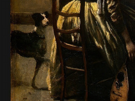 The Artists Studio, c. 1855-1860, Detalj 4, NG Washin. Jean-Baptiste-Camille Corot