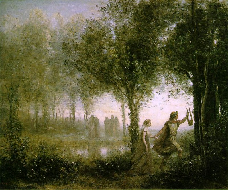 Orpheus Leading Eurydice from the Underworld 1861 112.. Jean-Baptiste-Camille Corot