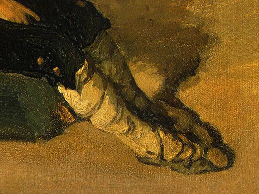 Итальянский крестьянский мальчик, 1825-26, фрагмент. Жан-Батист-Камиль Коро