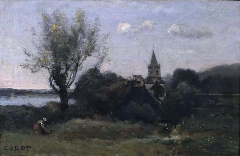 Ennery near Auvers. Jean-Baptiste-Camille Corot