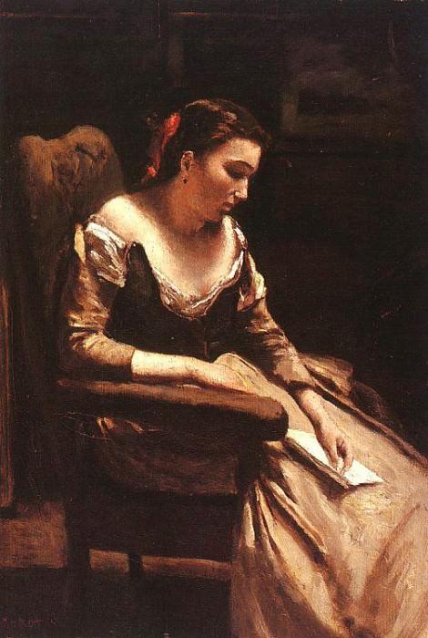 The Letter, approx. 1865, oil on wood, Metropolitan Mu. Jean-Baptiste-Camille Corot