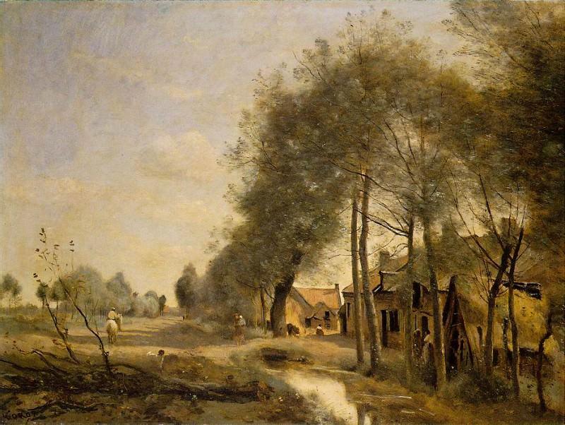 The Sin-le-Noble Road near Douai, 1873, Louvre. Jean-Baptiste-Camille Corot
