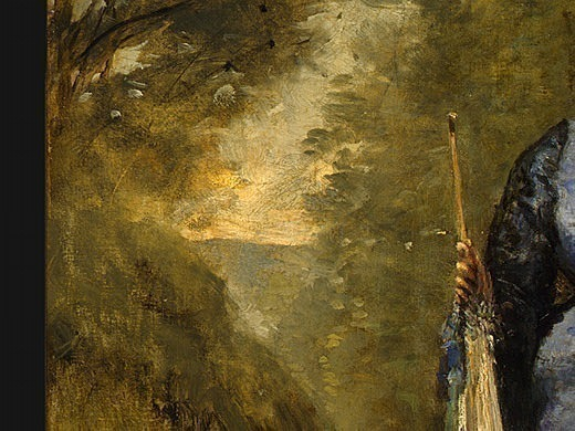 Madame Stumpf and Her Daughter, 1872, Detalj 2, NG Was. Jean-Baptiste-Camille Corot