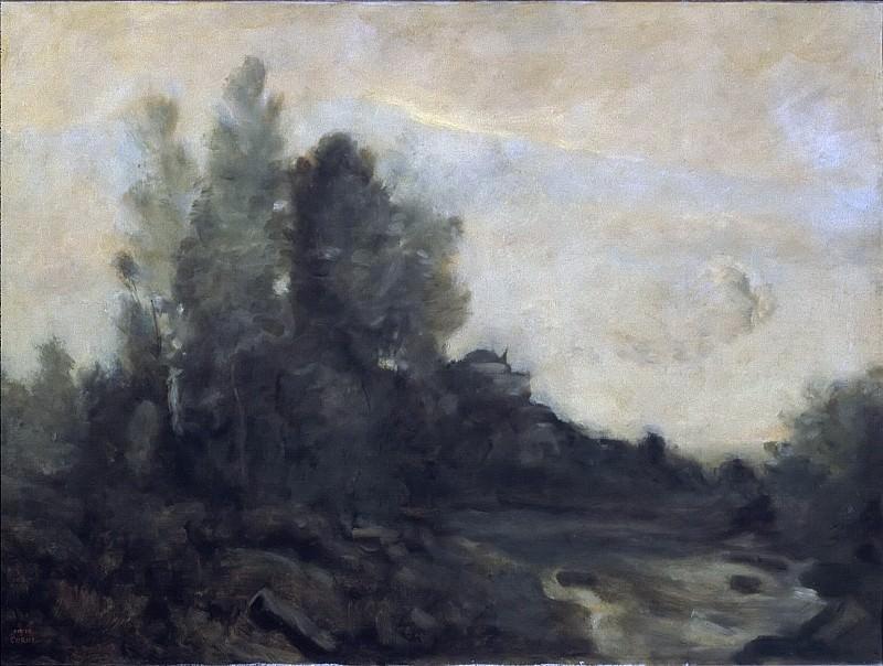 Souvenir d'Ariccia. Jean-Baptiste-Camille Corot