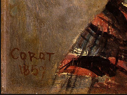 Portrait of a Young Girl, 1859, Detalj 3, NG Washingto. Jean-Baptiste-Camille Corot