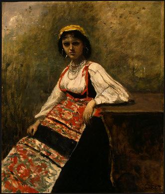 Italian Girl, c. 1871-1872, NG Washington. Jean-Baptiste-Camille Corot
