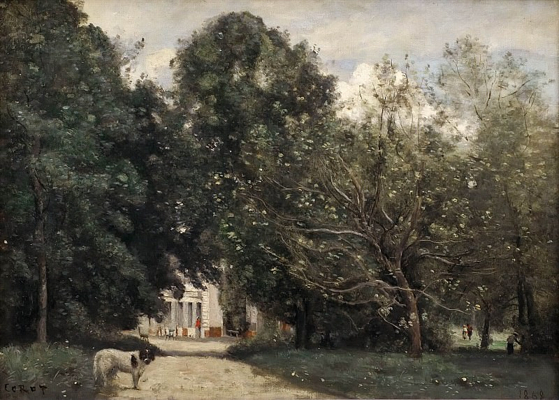 The Entrance to M. Dubuisson's Villa at Brunoy. Jean-Baptiste-Camille Corot