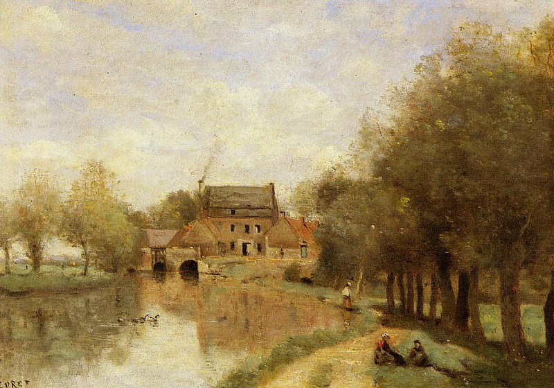 Arleux du Nord the Drocourt Mill on the Sensee. Jean-Baptiste-Camille Corot