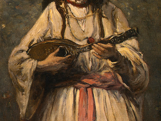 Gypsy Girl with Mandolin, probably c. 1870-1875, Det(2. Jean-Baptiste-Camille Corot