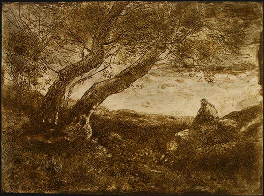 The Dreamer (Le Songeur), 1854, NG Washington. Jean-Baptiste-Camille Corot