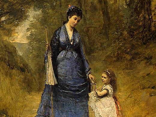 Мадам Штумпф и ее дочь, 1872, фрагмент. Жан-Батист-Камиль Коро