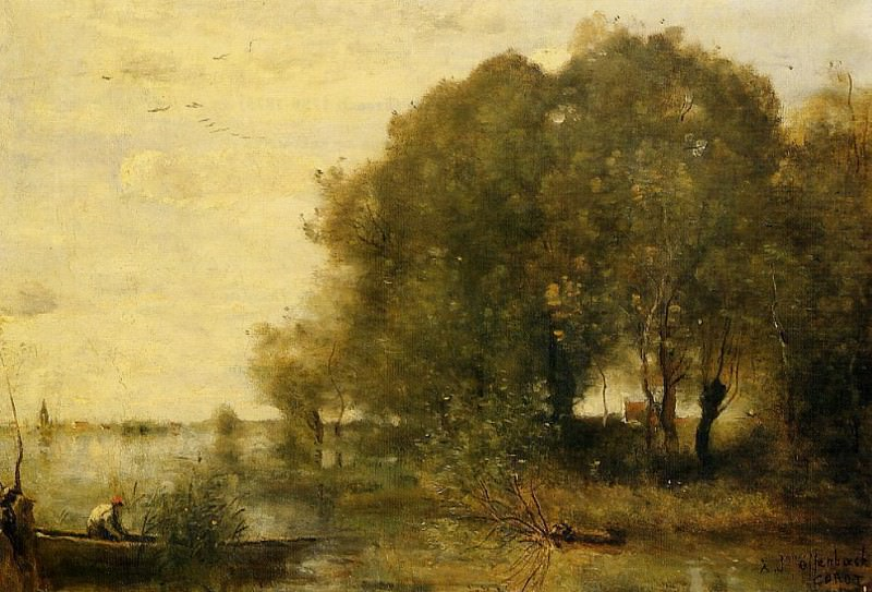 Wooded Peninsula. Jean-Baptiste-Camille Corot