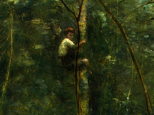 The Eel Gatherers, c. 1860-1865, Detalj 2, NG Washingt. Jean-Baptiste-Camille Corot