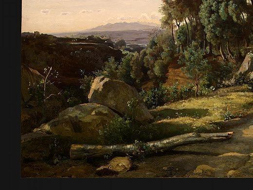 Вид близ Вольтерры, 1838, фрагмент. Жан-Батист-Камиль Коро