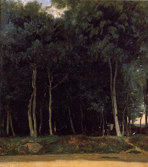 Fontainebleau the Bas Breau Road. Jean-Baptiste-Camille Corot