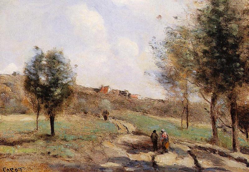 Coubron route Montante. Jean-Baptiste-Camille Corot