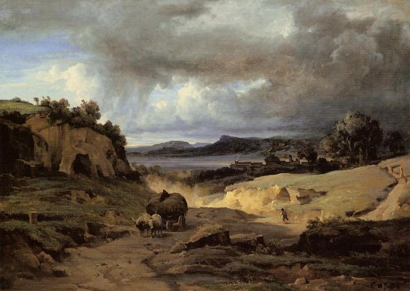 The Roman Campagna aka La Cervara. Jean-Baptiste-Camille Corot