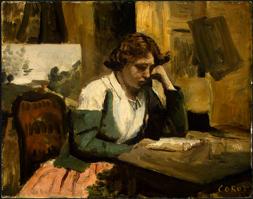 Young Girl Reading, 1868-1870, NG Washington. Jean-Baptiste-Camille Corot