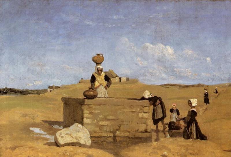 Breton Women at the Fountain. Jean-Baptiste-Camille Corot