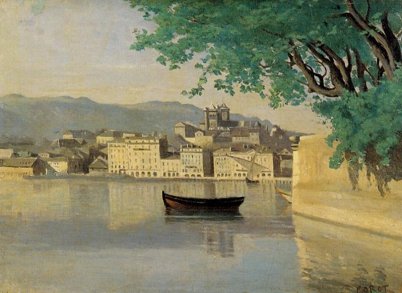Geneva View of Part of the City. Jean-Baptiste-Camille Corot