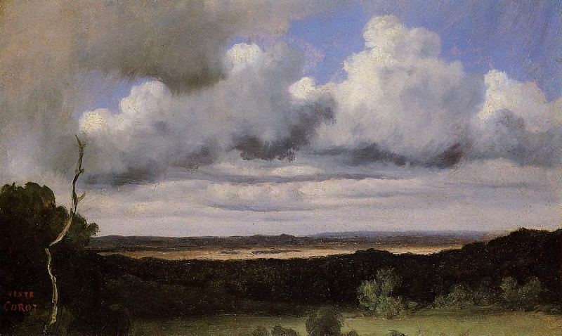 Fontainebleau Storm over the Plains. Jean-Baptiste-Camille Corot