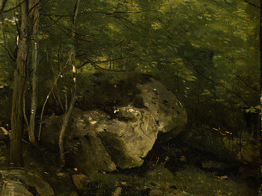 Rocks in the Forest of Fontainebleau, 1860-1865, Det(1. Jean-Baptiste-Camille Corot