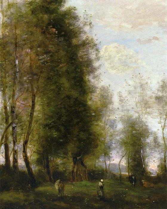 A Shady Resting Place aka Le Dormoir. Jean-Baptiste-Camille Corot