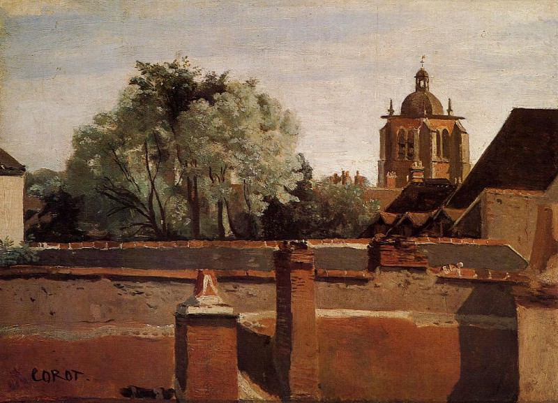 Bell Tower of the Church of Saint Paterne at Orleans. Jean-Baptiste-Camille Corot