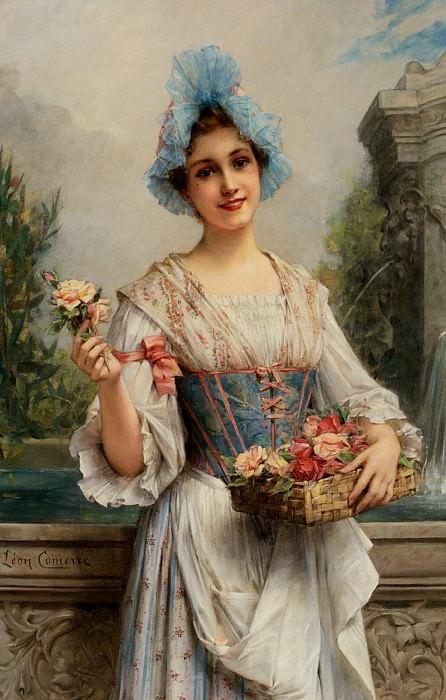 Продавщица цветов. Леон Франсуа Комер
