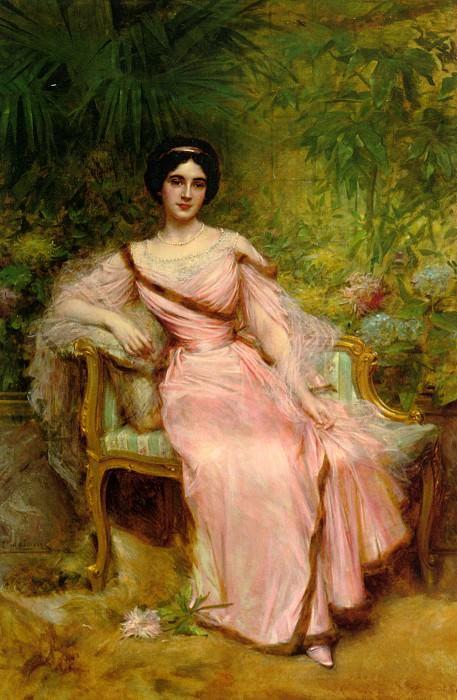 Портрет Сюзанны Юдело. Леон Франсуа Комер