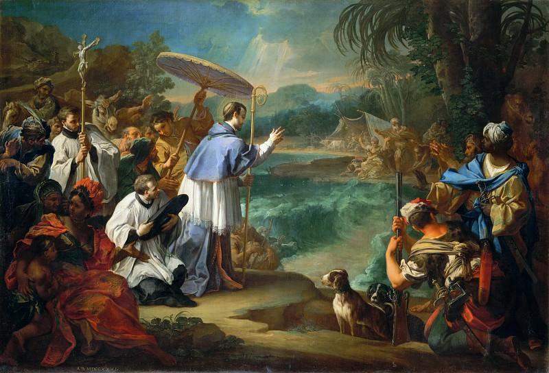The Miracle of Saint Turibio, Archbishop of Lima. Sebastiano Conca
