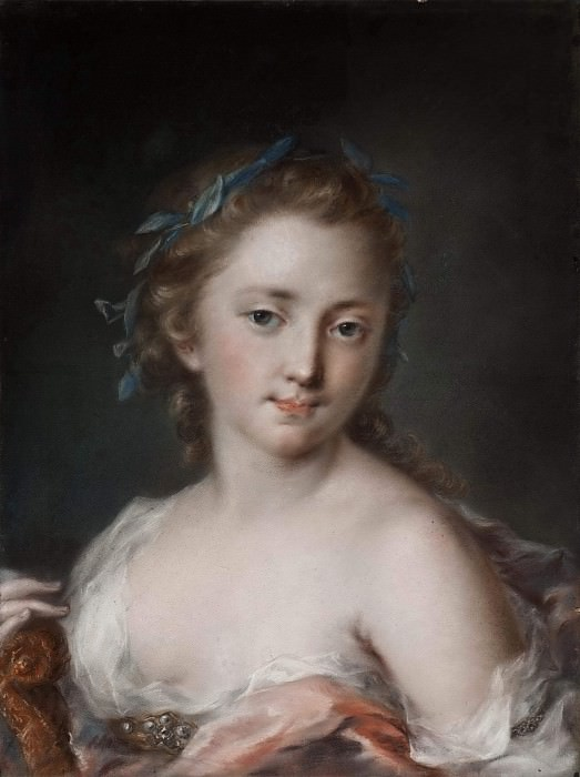 Young Woman with a Wreath of Laurels. Rosalba Carriera