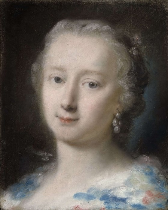 Young Woman with Flowers in her Hair. Rosalba Carriera