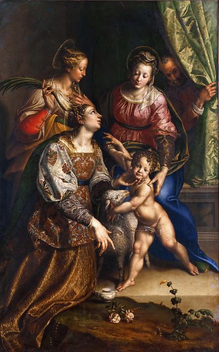 Мадонна с Младенцем со святыми Иосифом, Екатериной и Агнессой. Антонио Кампи