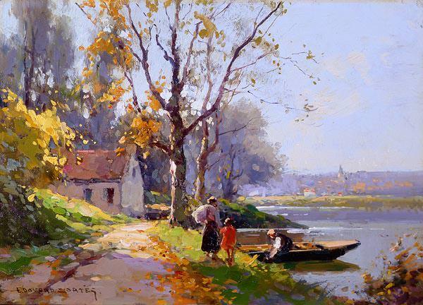 The ferryman. Edouard-Léon Cortès