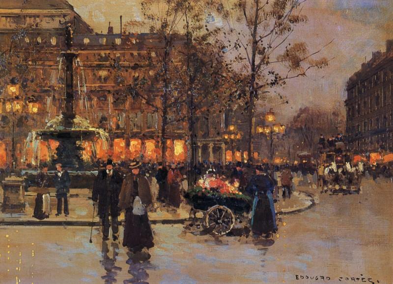 Place du Theatre de la Comedie Francaise. Edouard-Léon Cortès