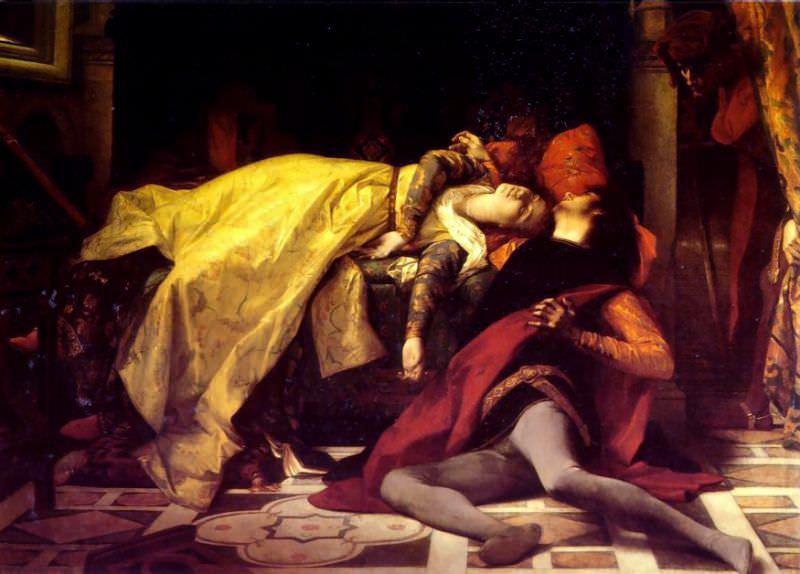 The Death of Francesca de Rimini and Paolo Malatesta 1870. Alexandre Cabanel
