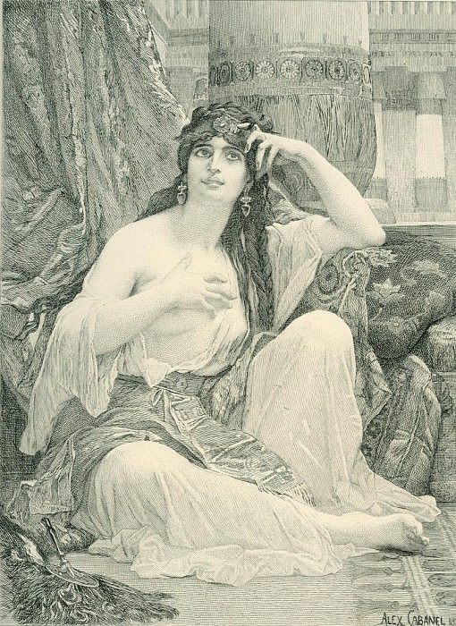 The Sulamite engraving. Alexandre Cabanel