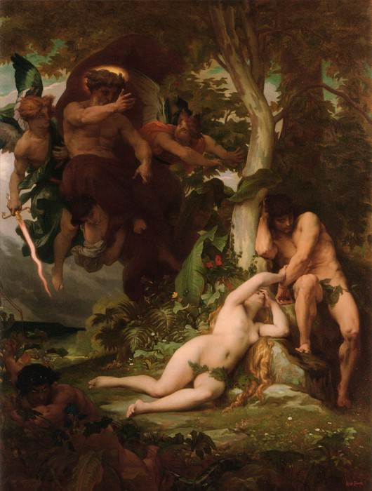 The Expulsion of Adam and Eve from the Garden of Paradise. Alexandre Cabanel