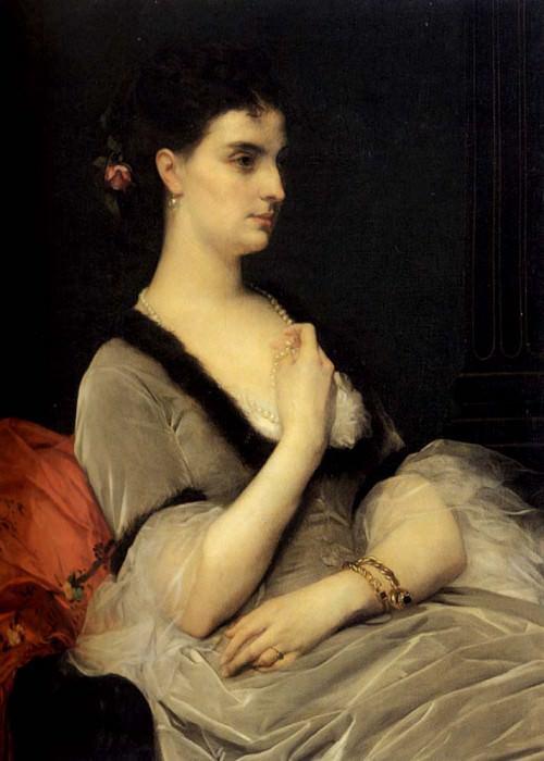 Portrait Of Countess E A Vorontsova Dashkova. Alexandre Cabanel