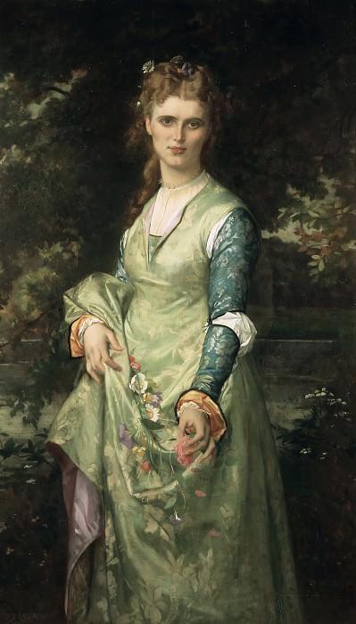 Christina Nilsson (1843-1921), opera-singer, as Ofelia. Alexandre Cabanel