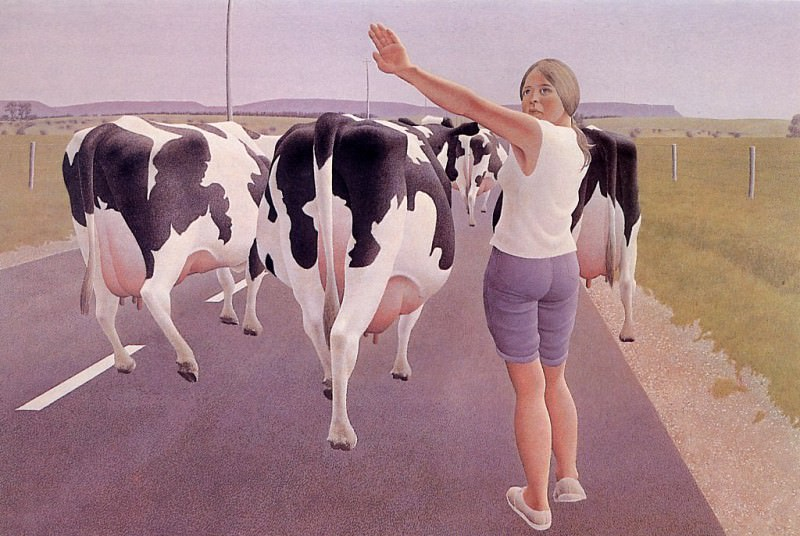 Stop for Cows. Alex Colville