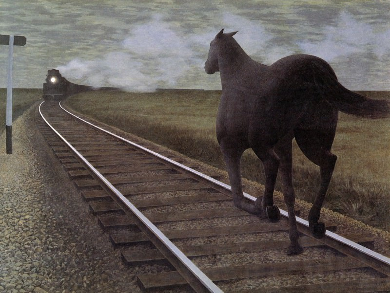 Horse and Train. Alex Colville