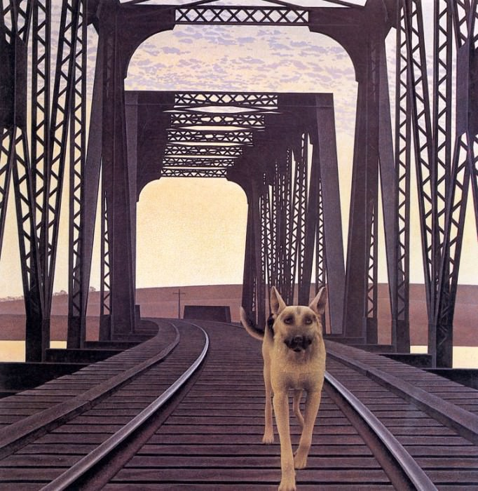 Dog and Bridge. Alex Colville