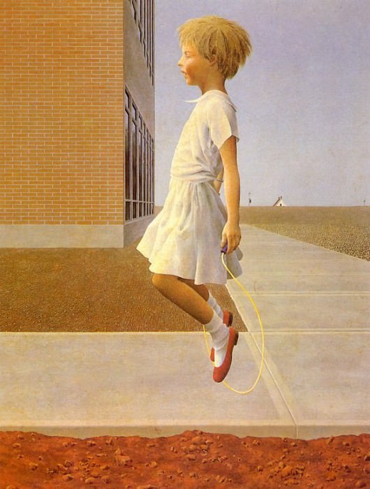 Child Skipping. Alex Colville
