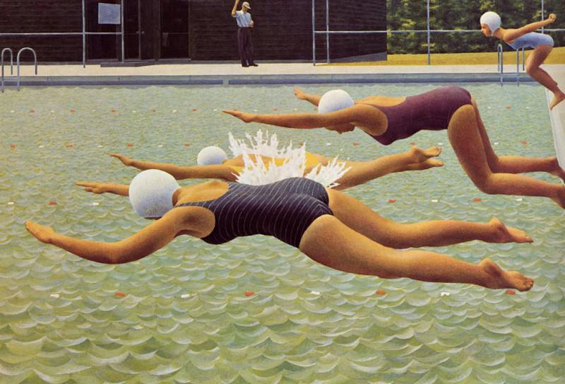 Swimming Race. Alex Colville