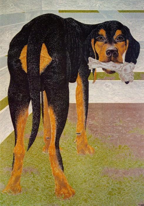 Dog with Bone. Alex Colville